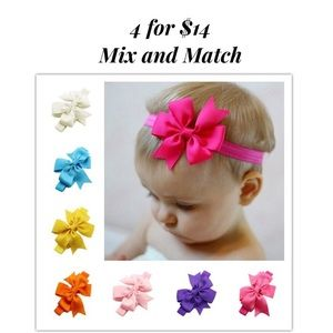 Other - Baby/Toddler 4 Topknot Bow Headband Mix & Match